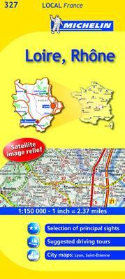 Loire, Rhone - Michelin Local Maps No. 327 (Sheet map, folded)
