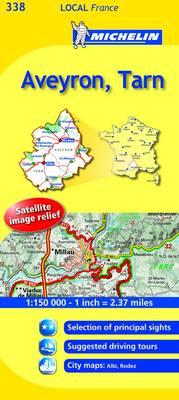 Aveyron, Tarn - Michelin Local Maps No. 338 (Sheet map, folded)