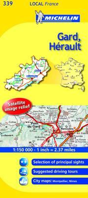 Gard, Herault - Michelin Local Maps No. 339 (Sheet map, folded)