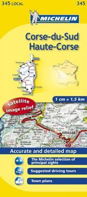 Corse-du-Sud, Haute-Corse - Michelin Local Maps No. 345 (Sheet map, folded)