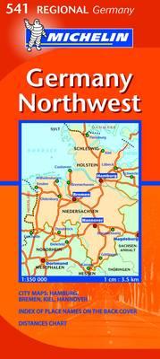 Germany Northwest - Michelin Regional Maps No. 541 (Sheet map, folded)