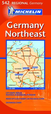 Germany Northeast - Michelin Regional Maps 542 (Sheet map, folded)