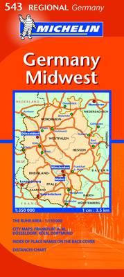 Germany Midwest - Michelin Regional Maps No. 543 (Sheet map, folded)