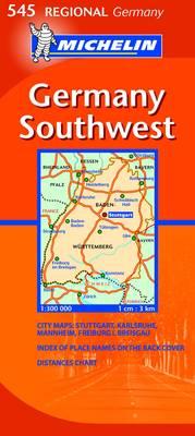 Germany Southwest - Michelin Regional Maps No. 545 (Sheet map, folded)