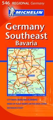 Germany Southeast - Bavaria - Michelin Regional Maps No. 546 (Sheet map, folded)