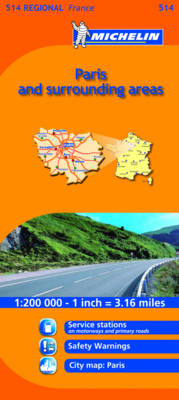 Ile-de-France - Michelin Regional Maps No. 514 (Sheet map, folded)