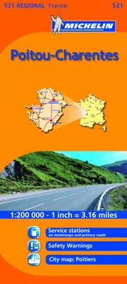 Poitou-Charentes - Michelin Regional Maps No. 521 (Sheet map, folded)