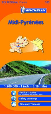 Midi-Pyrenees - Michelin Regional Maps No. 525 (Sheet map, folded)