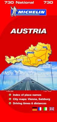 Austria 2008 2008 - Michelin National Maps No. 0730 (Sheet map, folded)