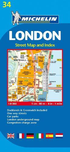 London - Michelin City Plan 34: City Plans - Michelin City Plans (Sheet map)