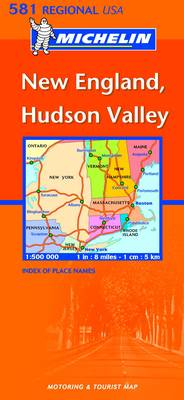 New England, Hudson Valley - Michelin Regional Maps No. 581 (Sheet map, folded)