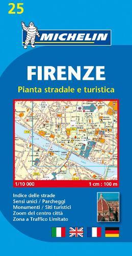 Firenze - Michelin City Plan 25: City Plans - Michelin City Plans (Sheet map)