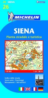 Siena Town Plan - Michelin City Plans No. 19026 (Sheet map, folded)