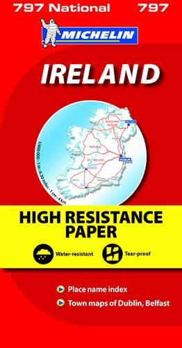 Ireland High Resistance - Michelin National Map: Map - Michelin National Maps (Sheet map)