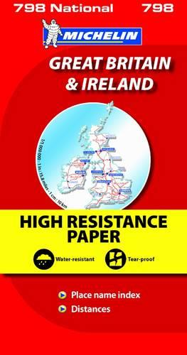 Great Britain & Ireland High Resistance - Michelin National Map: Map - Michelin National Maps (Sheet map)
