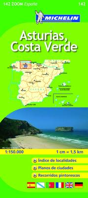 Asturias, C. Verde - Michelin Zoom Maps No. 142 (Sheet map, folded)