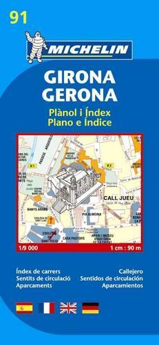 Girona City Plan - Michelin City Plans No. 19091 (Sheet map, folded)