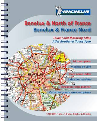 Road Atlas Benelux and N. France 2009 - Michelin Tourist and Motoring Atlases No. 2452 (Spiral bound)