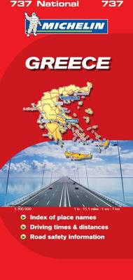 Greece National Map - Michelin National Maps No. 737 (Sheet map, folded)