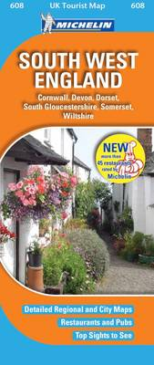 South West England - UK Tourist Maps No. 608 (Sheet map, folded)
