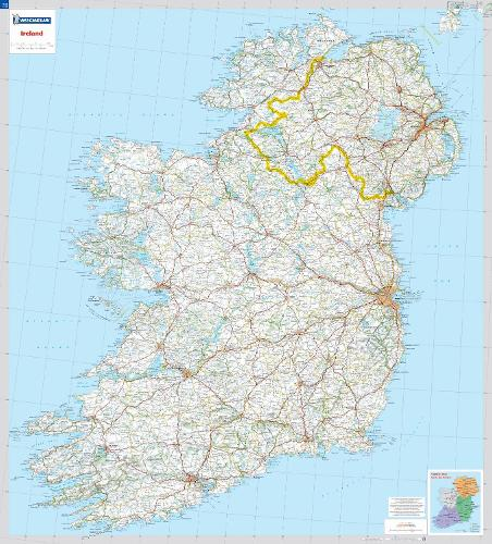 Ireland - Michelin rolled & tubed wall map Encapsulated: Wall Map - Michelin Wall Maps (Sheet map)