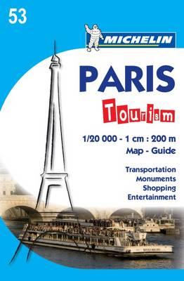 Paris Tourism Map - Michelin City Map (Sheet map, folded)