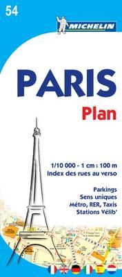 Paris Plan 2010 - Michelin City Plans 0054 (Sheet map, folded)