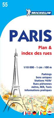 Paris Plan & Index des Rues Map - Michelin City Map (Paperback)