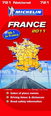 France National Map 2011 2011 - Michelin National Maps No. 721 (Sheet map, folded)