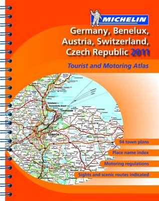 Atlas Germany, Benelux, Austria, Switzerland, Czech Republic 2011 2011 - Michelin Tourist and Motoring Atlases (Spiral bound)