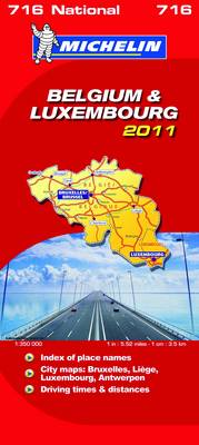 Belgium & Luxembourg National Map 2011 2011 - Michelin National Maps No. 716 (Sheet map, folded)