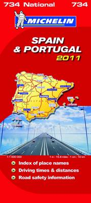 Spain & Portugal National Map 2011 2011 - Michelin National Maps No. 734 (Sheet map, folded)