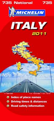 Italy National Map 2011 2011 - Michelin National Maps No. 735 (Sheet map, folded)