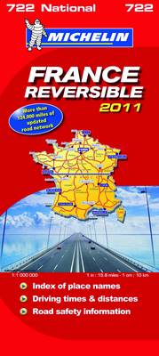 France Reversible National Map 2011 2011 - Michelin National Maps No. 722 (Sheet map, folded)