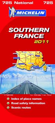 Southern France National Map 2011 2011 - Michelin National Maps No. 725 (Sheet map, folded)