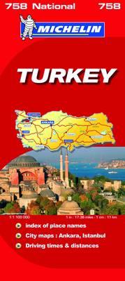 Turkey National Map - Michelin National Maps No. 758 (Sheet map, folded)