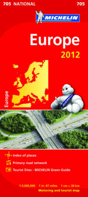 Europe National Map 705 - Michelin National Maps 705 (Sheet map, folded)