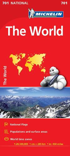 The World - Michelin National Map 701: Map - Michelin National Maps (Sheet map)