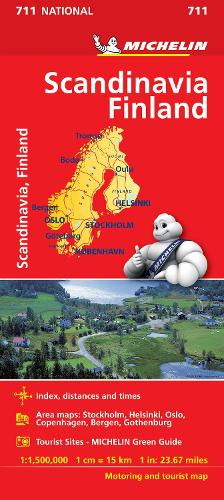 Scandinavia & Finland - Michelin National Map 711: Map - Michelin National Maps (Sheet map)