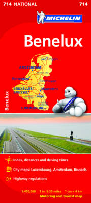 Benelux National Map 714 - Michelin National Maps 714 (Sheet map, folded)