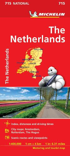 The Netherlands - Michelin National Map 715: Map - Michelin National Maps (Sheet map)