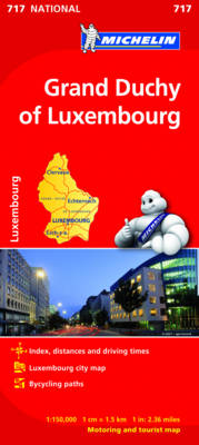 Grand Duchy of Luxembourg National Map 717 - Michelin National Maps 717 (Sheet map, folded)