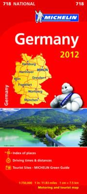 Germany 2012 National Map 718 - Michelin National Maps 718 (Sheet map, folded)