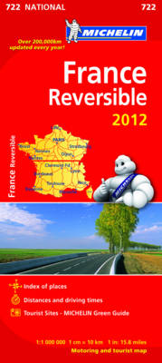 France Reversible Map - Michelin National Maps 722 (Sheet map, folded)