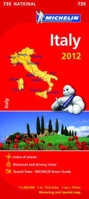 Italy 2012 - Michelin National Maps 735 (Sheet map, folded)