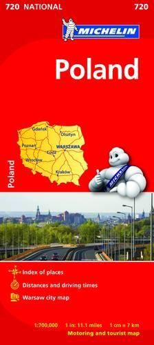 Poland - Michelin National Map 720: Map - Michelin National Maps (Sheet map)