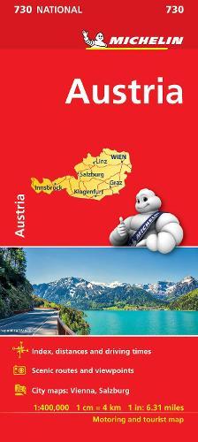 Austria - Michelin National Map 730: Map - Michelin National Maps (Sheet map)
