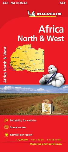 Africa North & West - Michelin National Map 741: Map - Michelin National Maps (Sheet map)