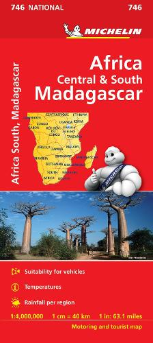 Africa Central and South Map - Michelin National Map (Sheet map, folded)