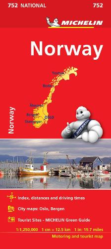 Norway - Michelin National Map 752: Map - Michelin National Maps (Sheet map)